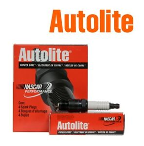 AUTOLITE COPPER CORE Spark Plugs 64 Set of 4
