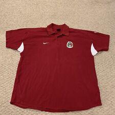 VTG Mexico National Soccer Team Nike Short Sleeve Polo Shirt Futbol Mens XL