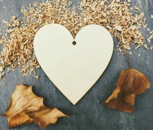 Laser Plywood Heart Shape x 10, 4mm Plywood Shapes Wood Shapes