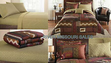 Bear Pine Cabin Lodge Lake 8 Piece Complete Bed In A Bag Comforter Sets, Choice