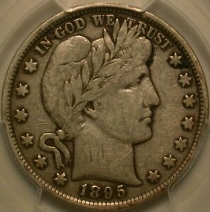 1895 Barber Half Dollar PCGS & CAC VF-20. POP 2 in CAC and PQ!