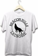 Teen Wolf Beacon Hills Lacrosse High School Sport Wolf Logo White T-Shirt