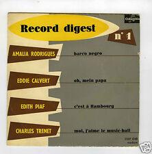 45 RPM EP RECORD DIGEST No1 E.PIAF A.RODRIGUES C.TRENET E.CALVERT