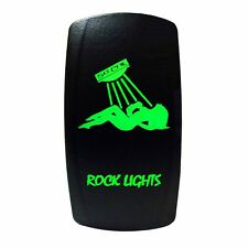 Bay Linger Deck Baja Marine Boat On/Off Green Rocker Switch Rock Light Sexy Girl