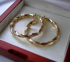 GENUINE 9ct gold hoop earrings gf, Stunning, FREE POSTAGE IF YOU BUY TODAY 64
