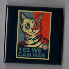 Barack Obama political campaign button pin 2008 LOL Cat