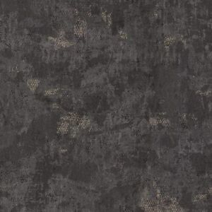 Wallpaper Designer Charcoal Black  & Shiny Copper Texture
