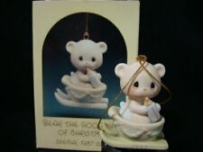 Precious Moments Ornament-Bear On Skis-Good News-Limited Edition 1987