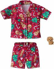 Barbie Doll Christmas Outfit Holiday Clothes Gingerbread Pajamas & Puppy Mattel