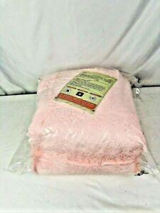 Pink Velvet Faux Fur Rug