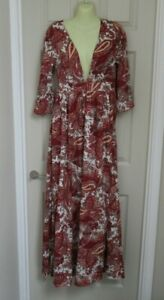 FIRST AND I ~ LONG PAISLEY MAXI DRESS ~70's style ~ SIZE X SMALL