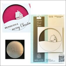 Stitched Circle Cabin metal die - Memory Box cutting dies 99852 frames house