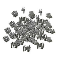 100pc Chrome Wire Connector Clamp Joiner Gridwall Panel Cube Storage Clipping
