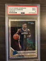 2019-20 Donruss Rated Rookie Zion Williamson Infinite Parallel PSA 9 Pelicans RC