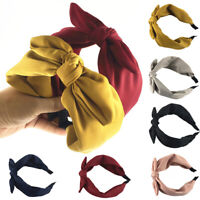 Womens Headband Twist Hairband Bow Knot Cross Tie Cloth Headwrap Hair Band Hoop