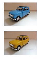 Lot 2 Renault 4L R4 Bleu, Jaune 1/38 Welly NEUF Boite d'origine