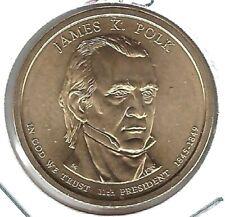 2009 Denver James Polk Uncirculated Satin Finish 11TH Presidential Dollar Coin!