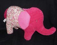 PIER 1 ONE IMPORTS PINK ELEPHANT PAISLEY PILLOW DECOR STUFFED ANIMAL PLUSH TOY