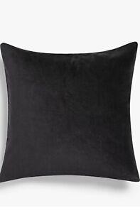 John Lewis & Partners Cotton Velvet Cushion, Graphite 50 X 50cm