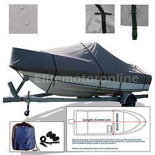 23'-24.5' V-Hull Walk Around cuddy cabin O/B Trailerable Boat Cover Grey