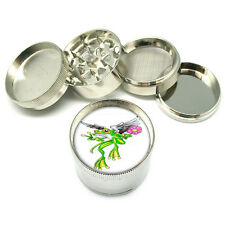 "Frog Peace Angel Flower Tattoo Metal Grinder 4 PC 2"" D-173"