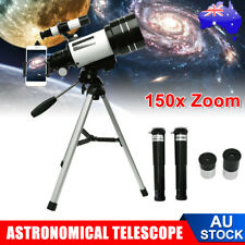 150X Zoom Astronomical Telescope Outdoor Monocular 70mm Aperture With Tripod AU