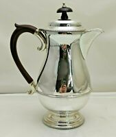 Vintage Sterling Solid Silver Coffee Pot with Filter 389g 1.25 Pint (1821-9-VGN)