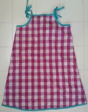 Hanna Andersson Gingham Poplin Sundress Picking Violets 120 7