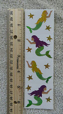 Mrs Grossman SPARKLE MERMAID - Strip of Mermaids & 8 Stars Stickers