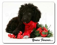 Miniature Poodle Dog 'Yours Forever' Computer Mouse Mat Christmas Gif, AD-POD3yM