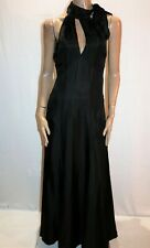 MORRISSEY Brand Black Silk Evening Dress Size 1 NEW #AN02