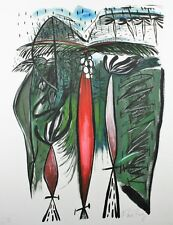 CUBAN MASTER FLORA FONG MIXED MEDIA ART SERIGRAPHY HAND SIGNED UNIQUE EDITION