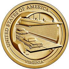 2021 P  $1 American Innovation - Chesapeake Bay Bridge-Tunnel - Virginia - BU