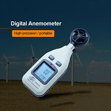 Digital LCD Thermometer Anemometer Temperature Meter Air Wind Speed Tester Gauge