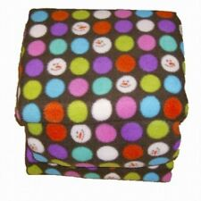 Soft & Lofty Fleece Sheet Set Full Size Brown Snowman & Colored Dots Bed Sheets
