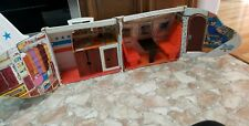 Vintage Barbie Friend Ship plane fold out playset United Airlines Used Mattel