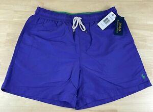 Mens Polo Ralph Lauren Swimwear Traveler Swim Trunks Purple Sz 2XL NWT $60