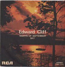 "EDWARD CLIFF - Nights of september - VINYL 7"" 45 ITALY 1976 VG+ COVER VG+"