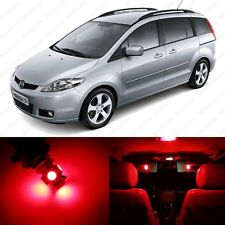 10 x Red LED Interior Lights Package For 2006 - 2010 Mazda 5 + PRY TOOL