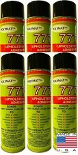 6 Cans of Polymat 777 Instant Tack Spray Glue Adhesive for Foam Fabric Carpet