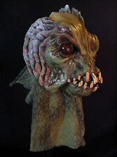 Sea Creature From Black Swamp Lagoon Latex Halloween Mask Moving Mouth