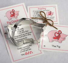 2 PIG tin cookie cutters  ~ MADE IN THE USA (NEW)   SALE!