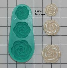 Silicone Mould Sugarcraft Cake Decoration Moulds Roses in Bloom Clay Fimo (7013)