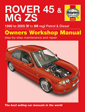 4384 Haynes Rover 45 & MG ZS Benzina & Diesel 1999 a 2005 Manuale di Officina