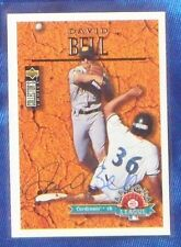 David Bell St Louis Cardinals 1996 Upper Deck Collectors Choice Signed Card
