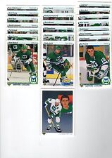 1X HARTFORD WHALERS 1990-91 Upper Deck COMPLETE TEAM SET Low & High Lots Availab