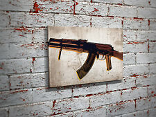 AK-47 X-Ray Pop Art Canvas Print - AK-47 Pro-gun Wall Art