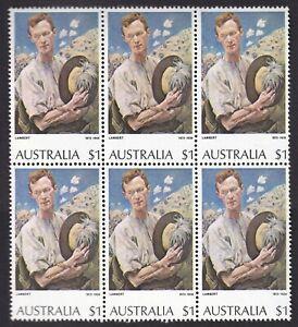 AD836) Australia 1974 $1 Sergeant of Light Horse block of 6, upper left unit