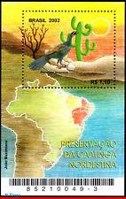 2849 BRAZIL 2002 PRESERVATION OF CAATINGA, BIRDS, CACTI, PLANTS, MI# B119, MNH