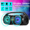 LED bluetooth Speaker Bass Portable Subwoofer Wireless Boombox With FM Radio C